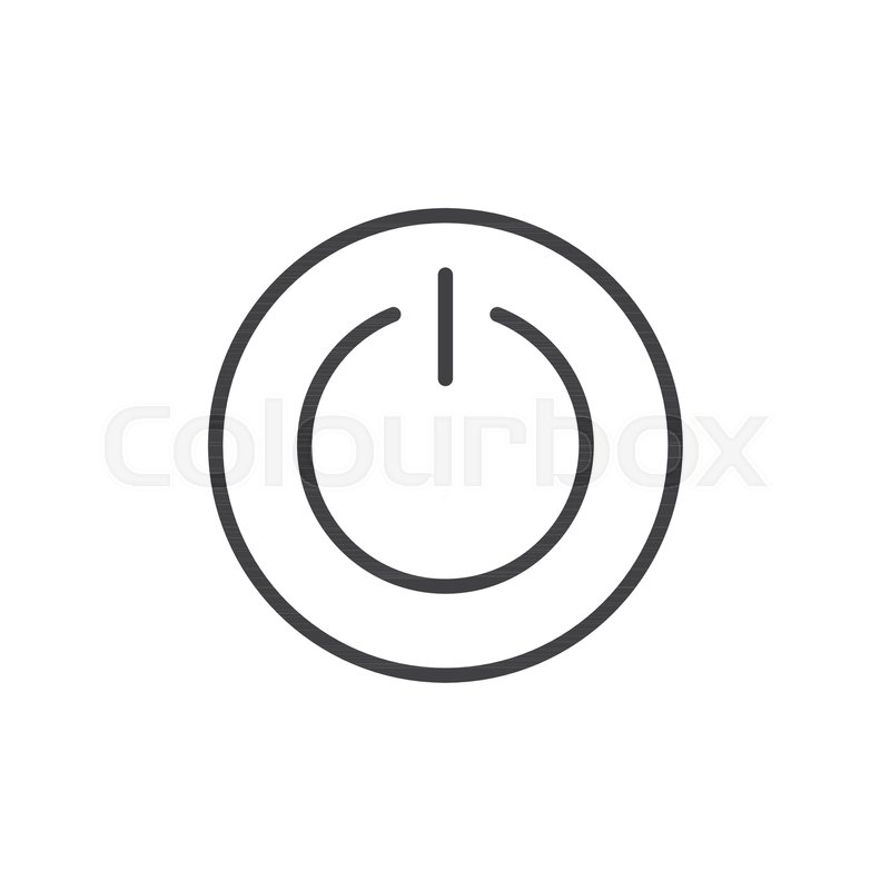 Power Switch Line Icon Outline Vector Sign Linear Style Pictogram