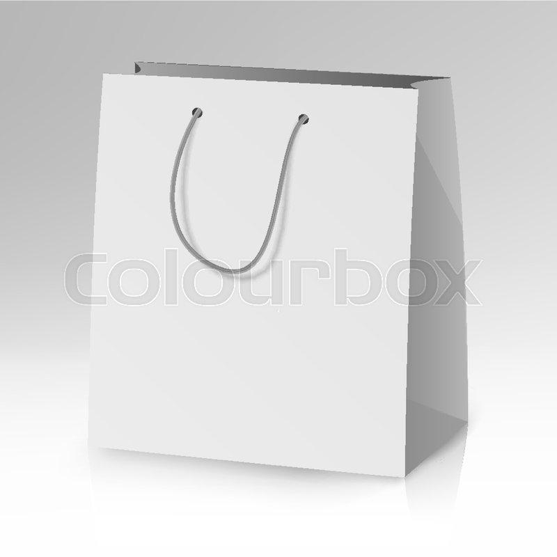 Blank paper bag template vector 3d realistic shopping or gift bag blank paper bag template vector 3d realistic shopping or gift bag mock up stock vector colourbox maxwellsz
