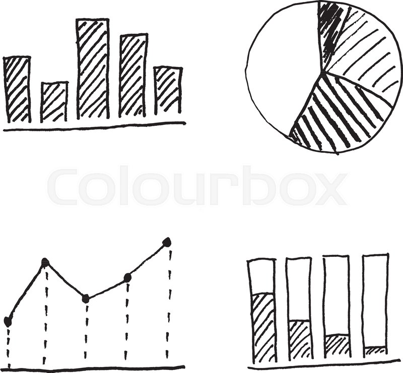 Bar Chart Line Chart And Pie Chart Stock Vector Colourbox