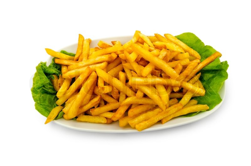 French fries in the plate | Stock Photo | Colourbox