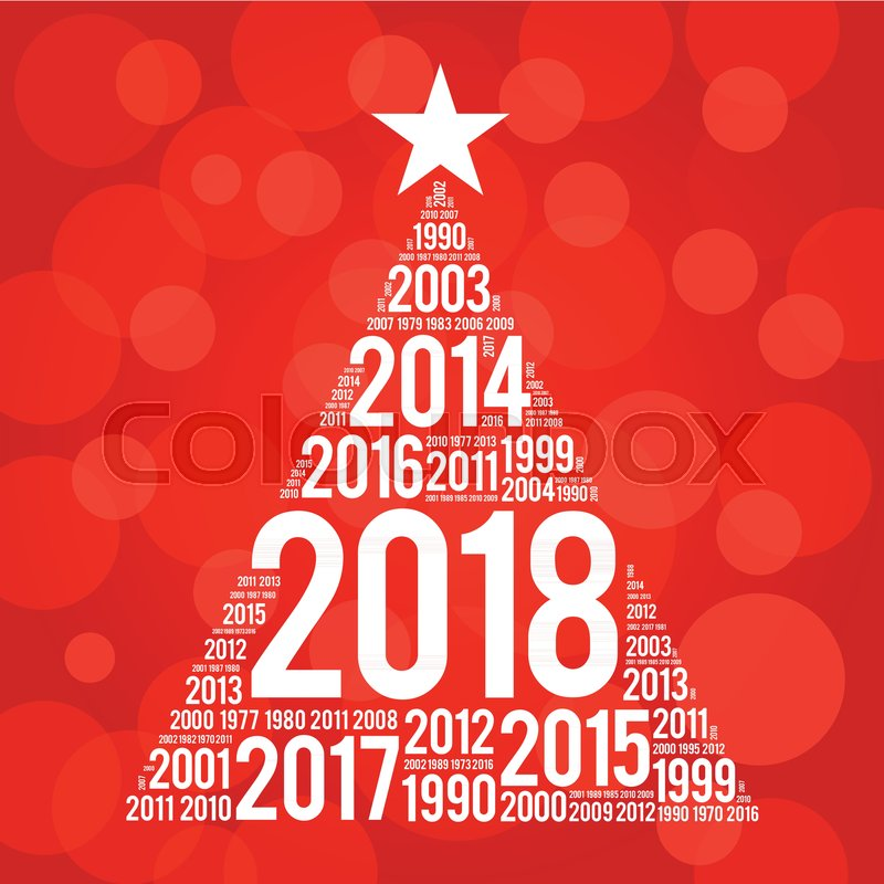 2018 happy new year and previous years word cloud greeting card in 2018 happy new year and previous years word cloud greeting card in the shape of a christmas tree stock vector colourbox m4hsunfo