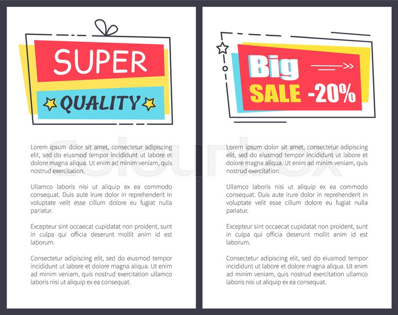 Super quality big sale promo stickers in square shape frames ...