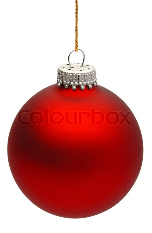 colored christmas ball isolated on the white background