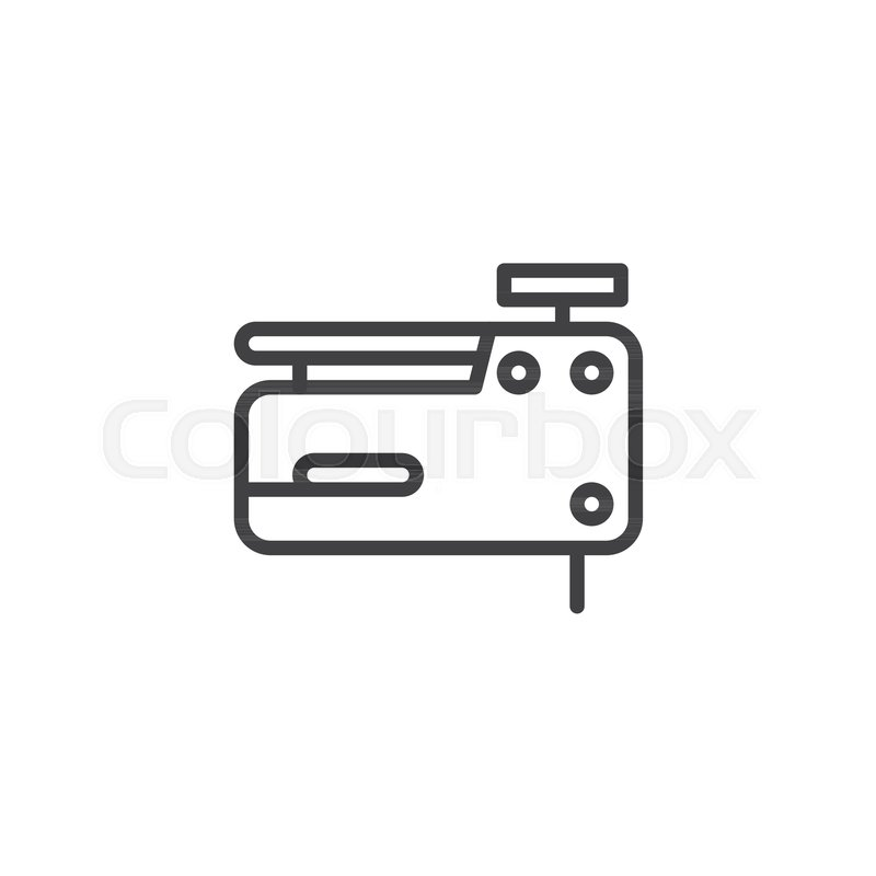 Nail Gun Line Icon Outline Vector Sign Linear Style Pictogram