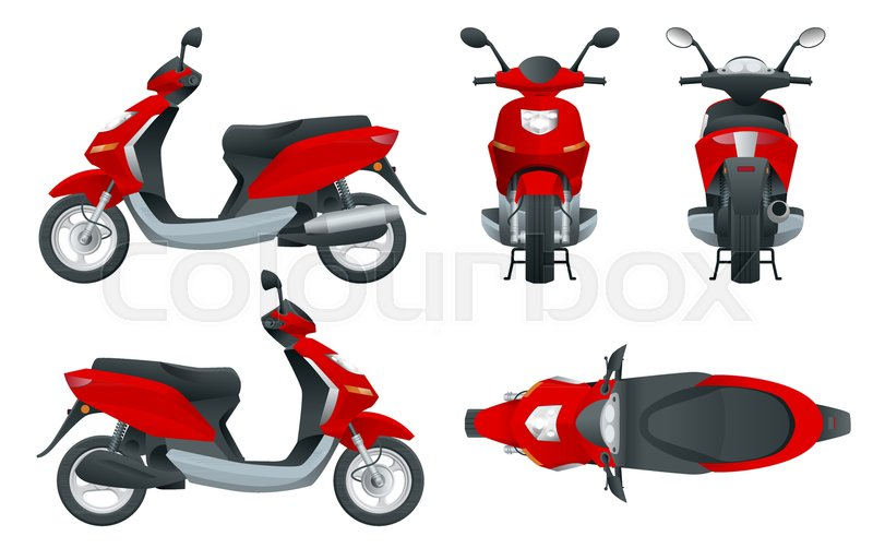 trendy electric scooter isolated on stock vector colourbox trendy electric scooter isolated on