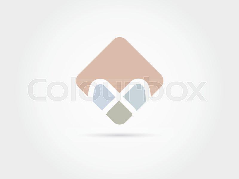 abstract alphabet box brand creative flat font icon