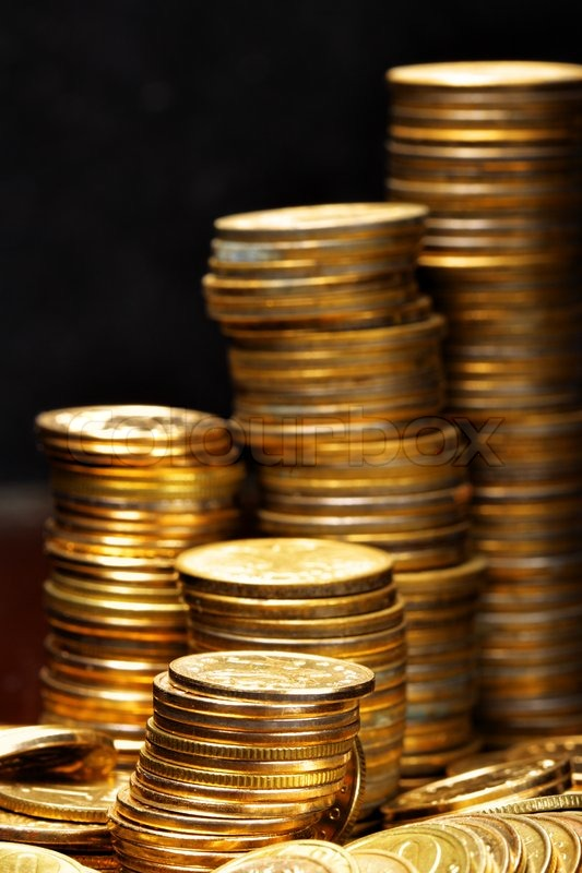 gold coins black background - photo #10
