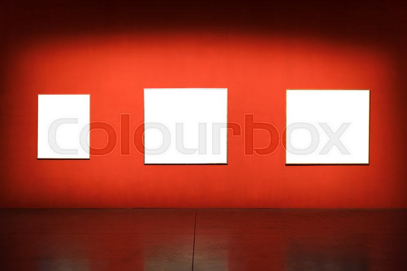 Art Museum Frame Wall Ornate Minimal Design, stock photo