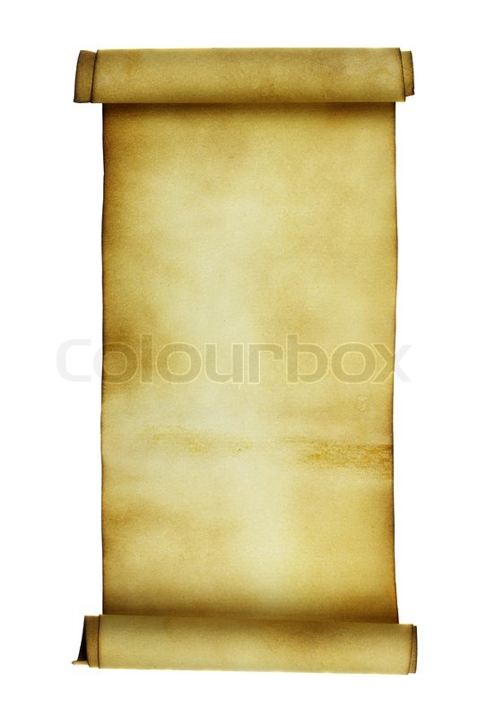 ancient scroll isolated over a white background stock