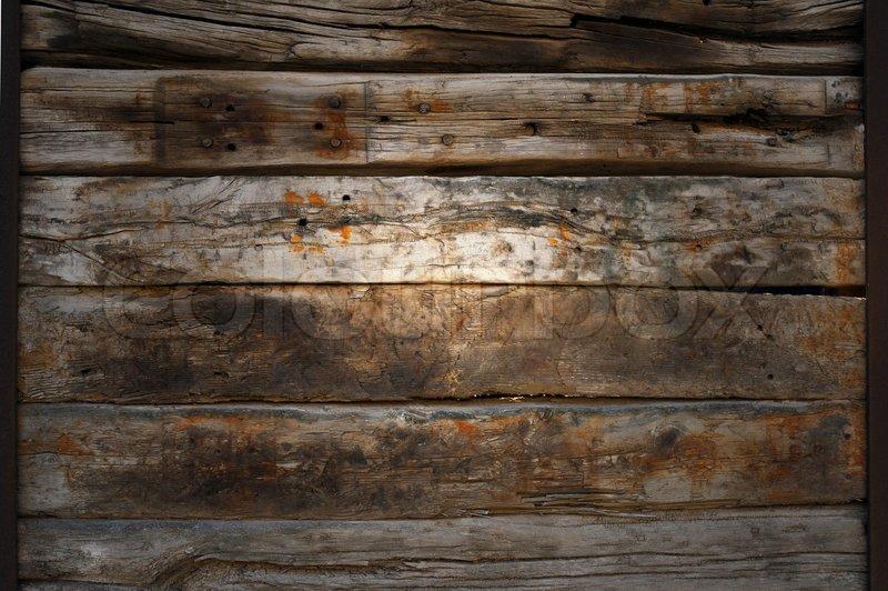 Holzwand Mit Lichtreflex Alt Und Rau Stockfoto Colourbox