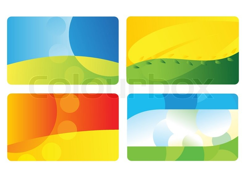 Set of business card backgrounds stock vector colourbox set of business card backgrounds vector reheart Choice Image