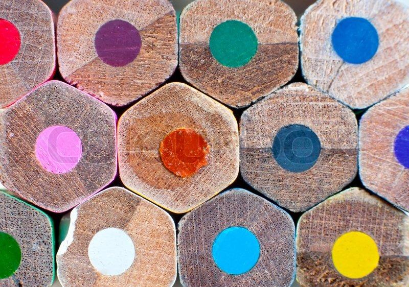 Color pencils Texture or background | Stock Photo | Colourbox