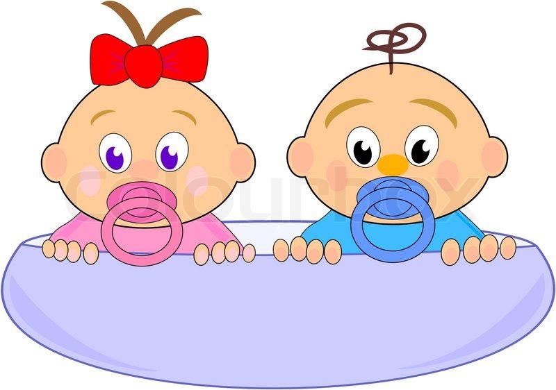 Baby girl thumbelina mit roter schleife und jungen in