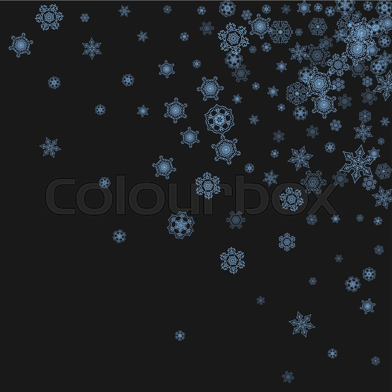 snowflake border for christmas and new year celebration holiday snowflake border on black background with sparkles for banners gift coupons vouchers