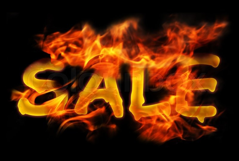 Stock image of 'Fire Sale for hot flame design'