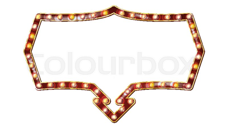 Vintage Circus Text Frame, Vintage vector circus inspired frame on ...