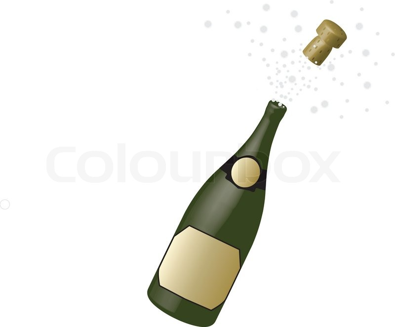 Bottle of champagne | Vector | Colourbox