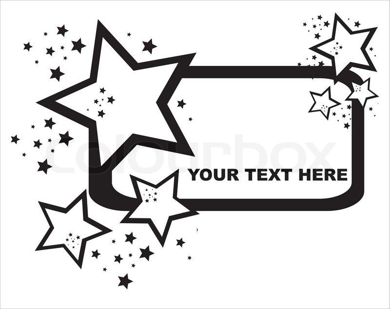 Black abstract stars frame | Stock Vector | Colourbox