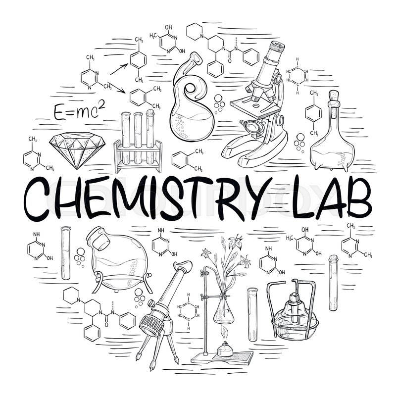 Free Clipart: JPG, PNG, EPS, AI, SVG, CDR |Lab Chemist Drawings