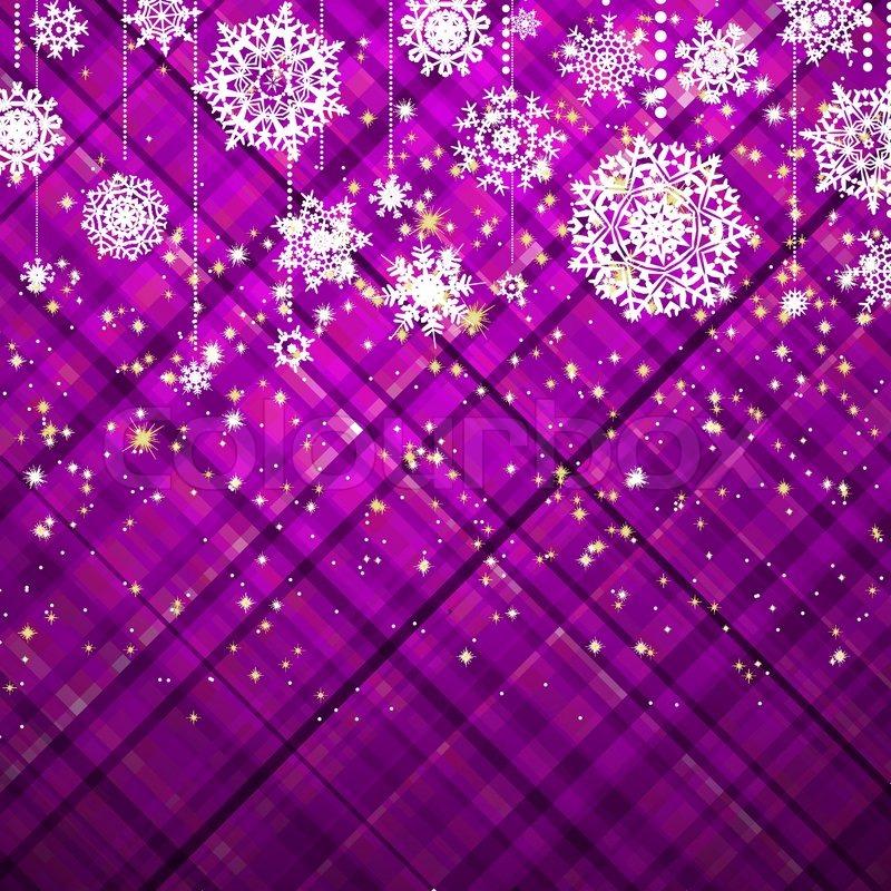 Purple christmas background, vector illustration EPS 8 vector file ...
