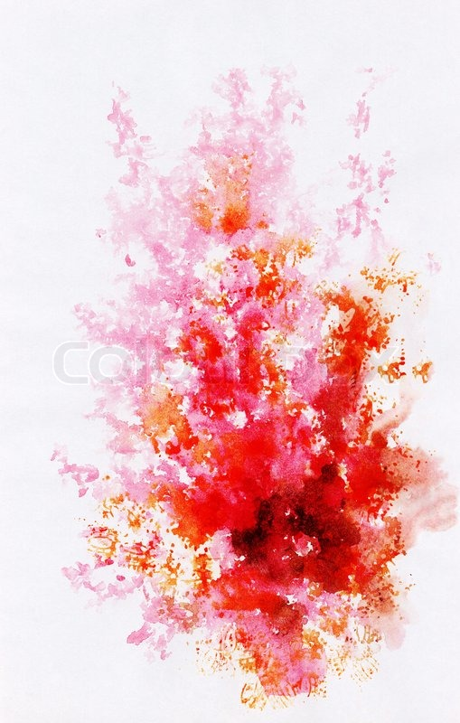 Abstract Background Watercolor Beautiful Hand Painted On