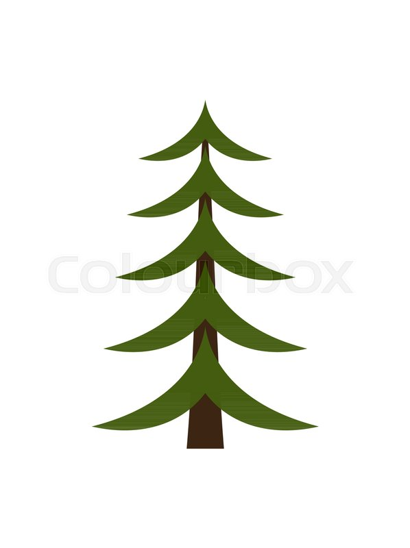 Image Of Christmas Tree Represented In Schematic Way Minimalistic