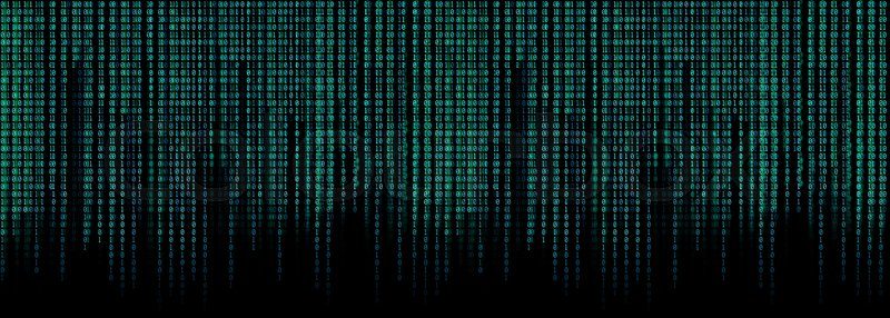 Blue Binary Code Matrix Background Wide Stock Image Colourbox