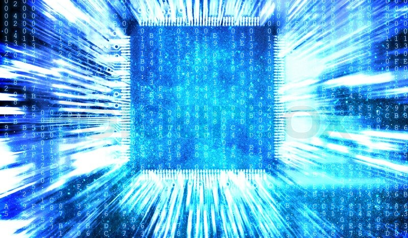 Computer Circuit Board Blue Computer Circuit Board - Data SET •