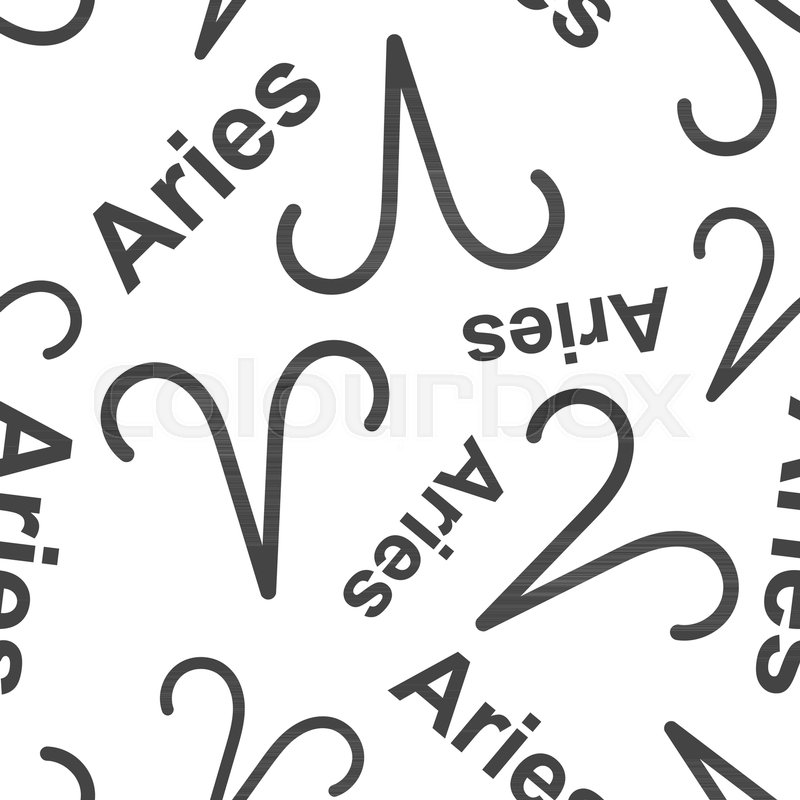 Aries Zodiac Sign Seamless Pattern Background Business Flat Vector