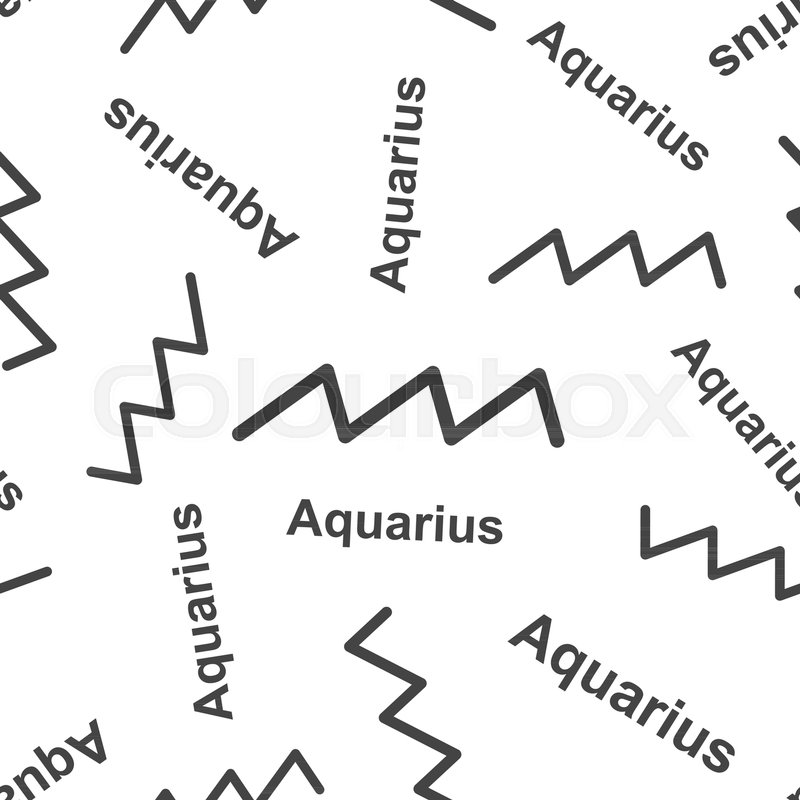 Aquarius Zodiac Sign Seamless Pattern Background Business Flat