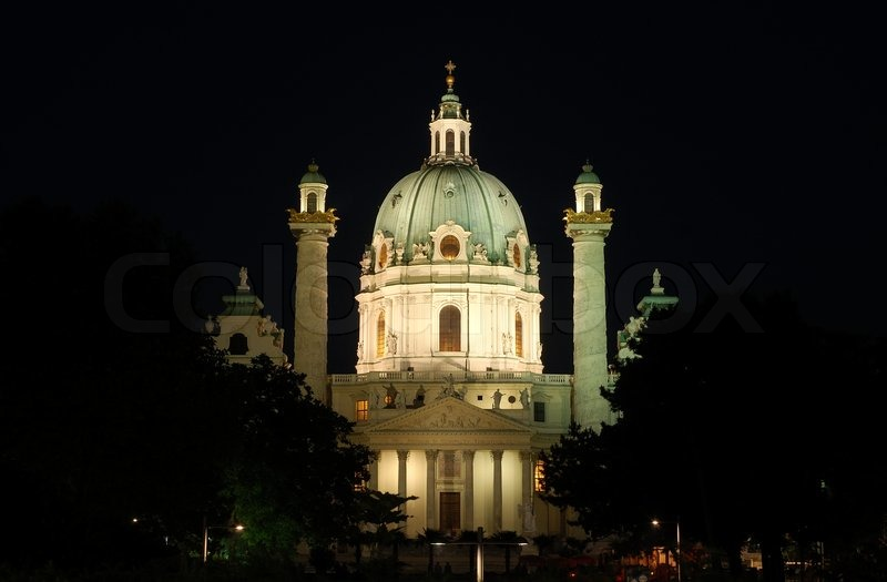 The Karlskirche German for St Charles\'s Church in Vienna, Austria, stock photo