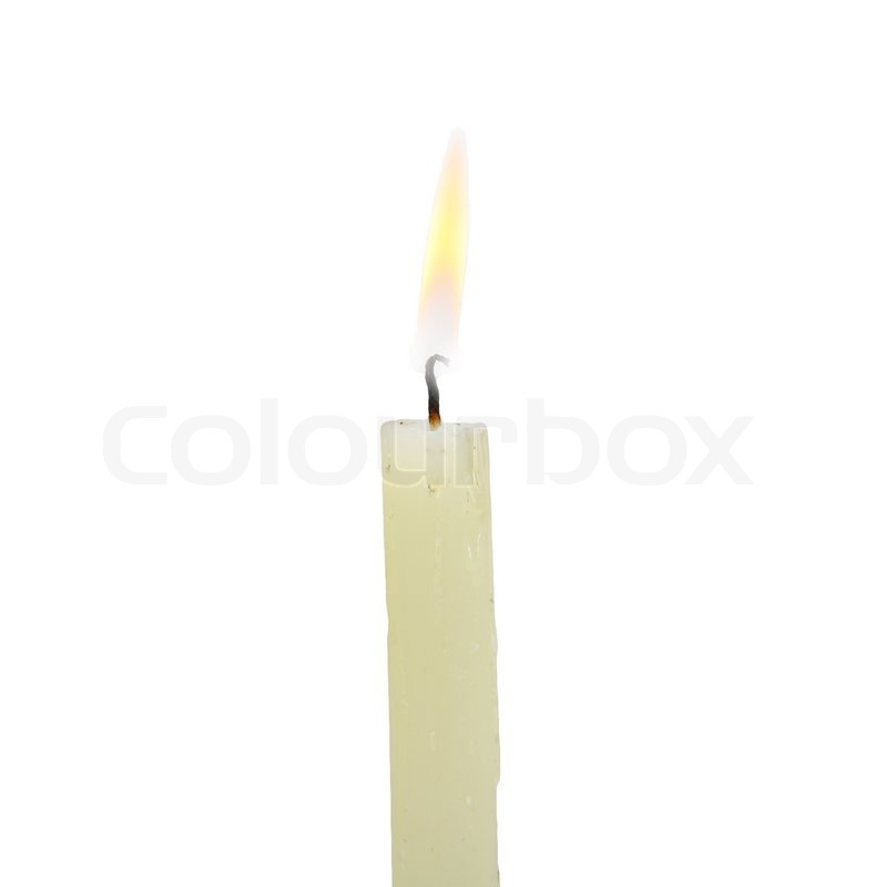candle on a white background stock photo colourbox