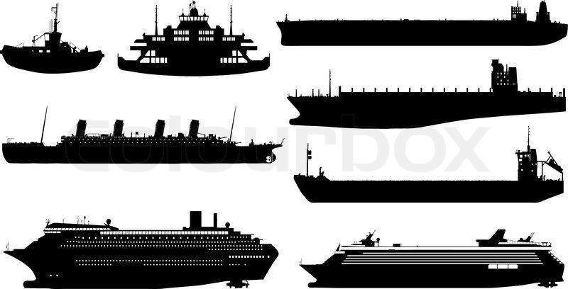 Seeschiff Im Vektor Aus Vektorgrafik Colourbox
