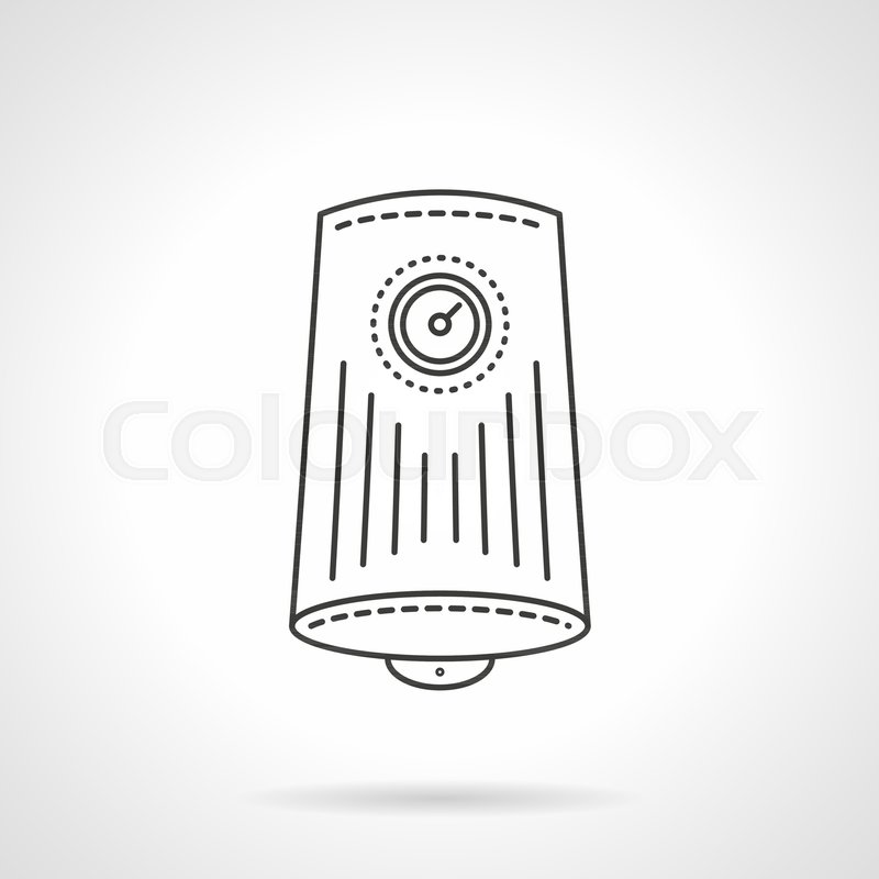 Symbol Of Water Boiler Cylinder Tank With Round Display With Arrow
