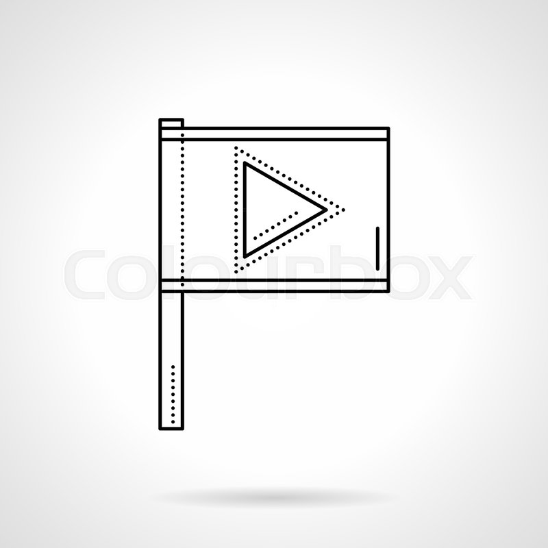 Symbol Of Flag With Player Sign Mark Button For Important Videos