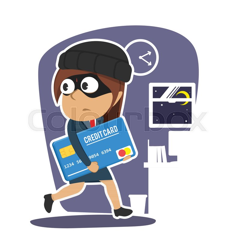 Indian businesswoman stealing credit card stock vector colourbox reheart Images