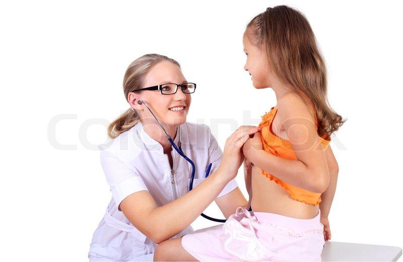Junge weibliche Arzt tun ärztliche  | Stockfoto | Colourbox