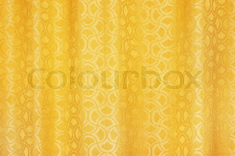 Golden Colored Curtains Textured Background With Ornaments