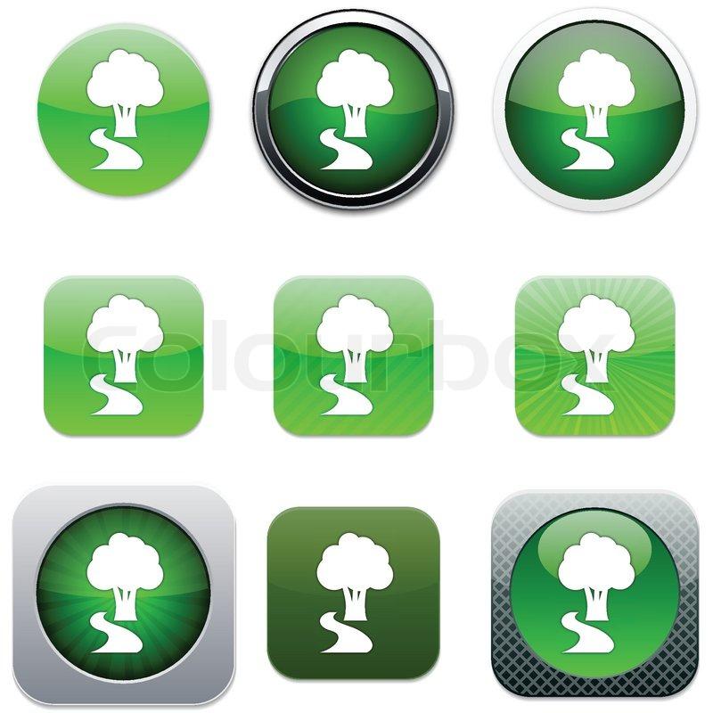baum set von apps icons vektor illustration vektorgrafik colourbox. Black Bedroom Furniture Sets. Home Design Ideas
