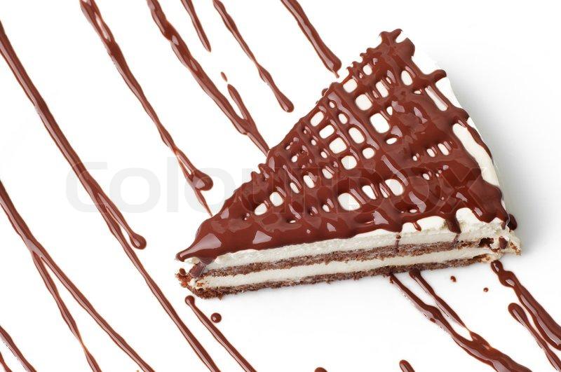 Tiramisu dessert on plate with chocolate decoration isolated | Stock Photo | Colourbox  sc 1 st  Colourbox & Tiramisu dessert on plate with chocolate decoration isolated | Stock ...