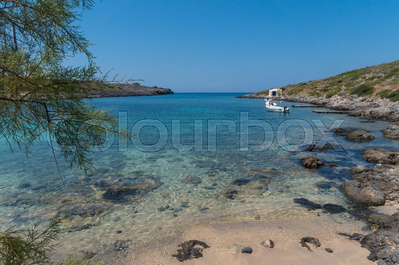 Stock image of 'Picturesque beach Limionas in Kythera island of Greece'