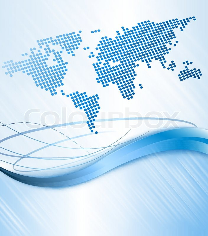 Stock vector of 'World news concept. Abstract world map made from ...