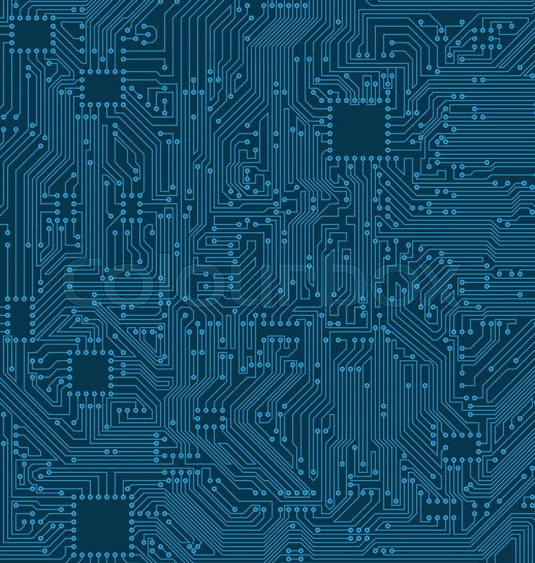 Digital Circuit Background. Texture of Processor, Motherboard ...