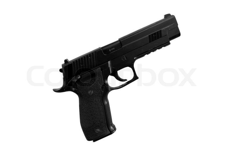 The Image Of Gun Under The White Background Stock Photo Colourbox