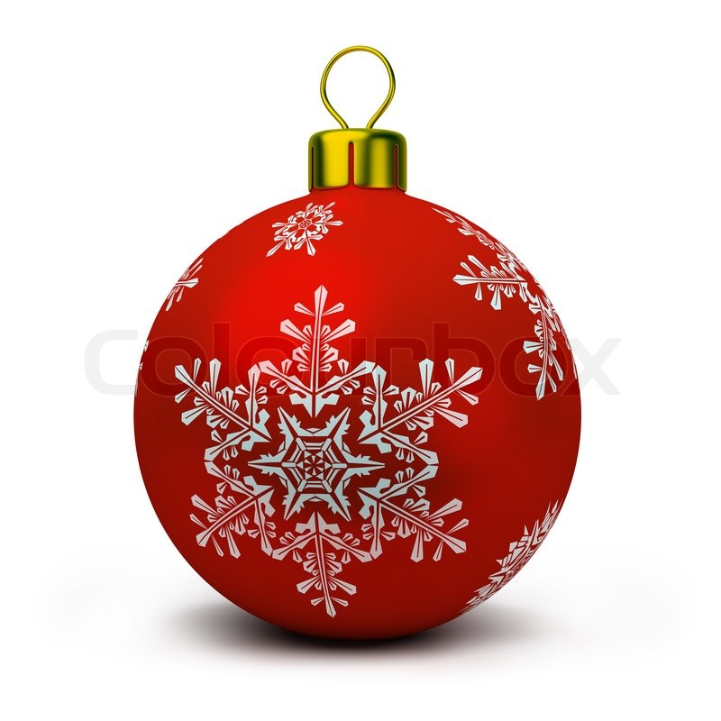 Red christmas ball stock photo colourbox