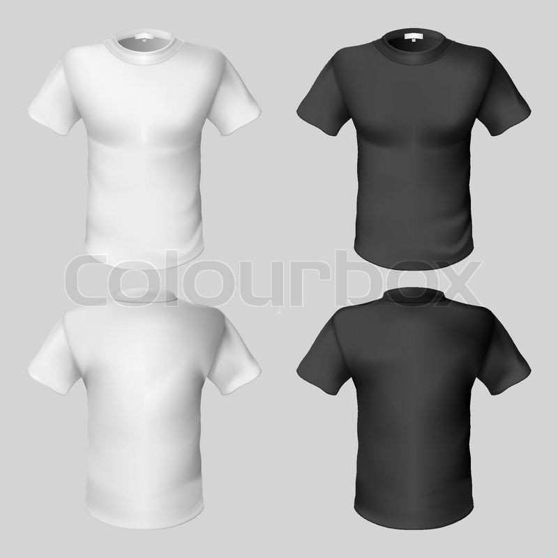 T shirt design template front and back stock vector colourbox maxwellsz