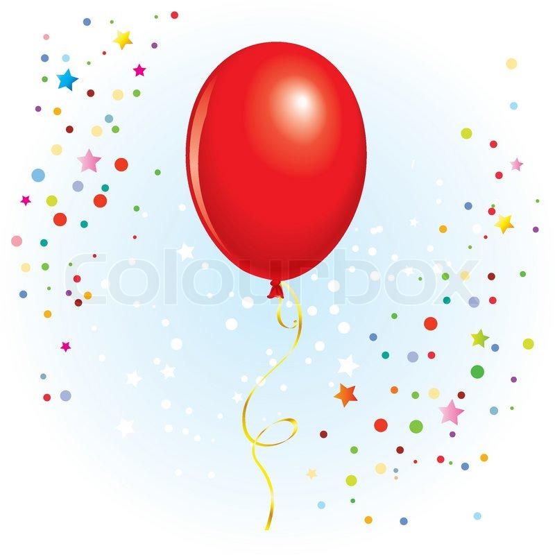 roten ballon mit baumelnden geschweiften band im vektor format vektorgrafik colourbox. Black Bedroom Furniture Sets. Home Design Ideas