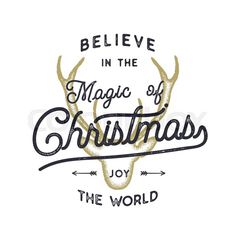 Goldcorp Stock Quote: Christmas Typography Quote Design. Believe In Christmas