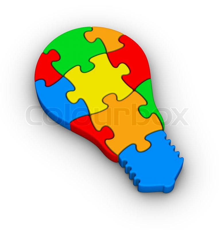 Jigsaw Puzzle Light Bulb Icon