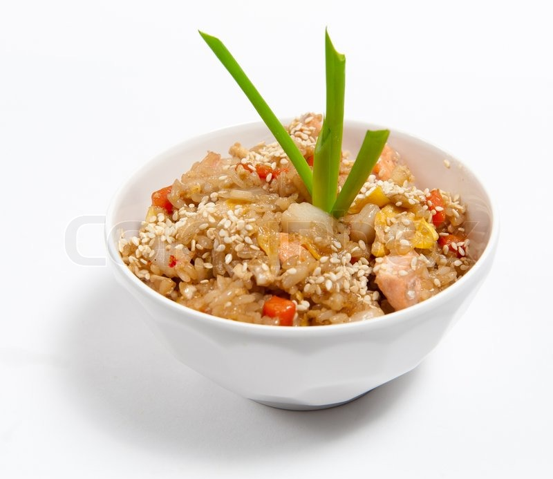 рис морепродуктами соевый соус